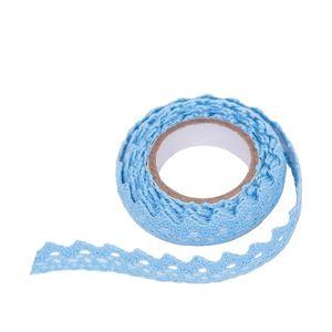 Bavlněná samolepící stuha krajka 1.8 m / Blue