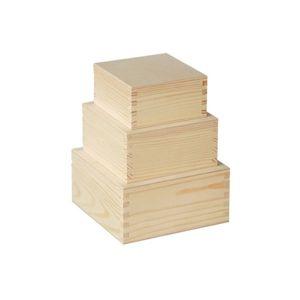 Sada dřevěných krabiček na dekorování / 3 dílná