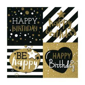 Ubrousky na dekupáž - Happy Birthday - 1ks