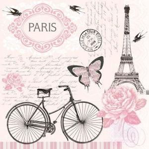 Ubrousky na dekupáž - Procházka v Paříži - 1ks