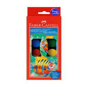 Vodové barvy 12 barevné, 24mm
