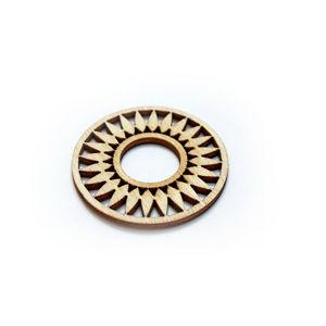 Dřevěný polotovar na výrobu bižuterie - kruh 2
