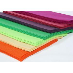 Dekorační filc syntetický 20x30 cm / různé barvy