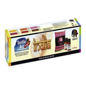 Sada barev na textil INDIA 6x20ml