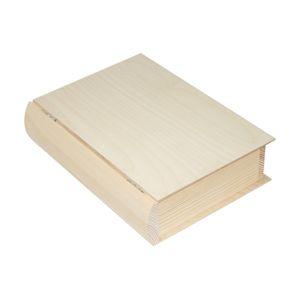 Dřevěná krabička kniha 21x27.5x7 cm (dřevěné polotovary na tvoření)
