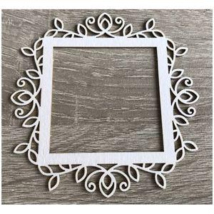 Dřevěný ozdobný výřez rám - ornament - 1 ks (Dřevěný výřez)
