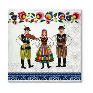 Eko ubrousky na dekupáž Folk Celebration - 1ks (ubrousky na dekupáž)