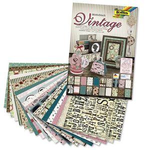 Kreativní papír Folia Vintage II 24 x 34 cm / 20 listů (Folia papírový)