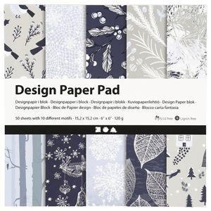 Papír na scrapbooking blue nature 15.2 x 15.2 cm - 50 listů (kreativní)