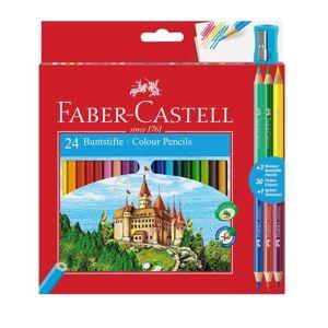 Pastelky Faber-Castell šestihranné / set 24 barev (tužky na kreslení)