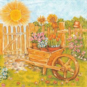 Ubrousky na dekupáž Blooming Garden - 1 ks (ubrousky na dekupáž)
