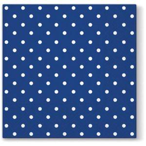 Ubrousky na dekupáž Blue Dots - 1 ks (Ubrousky na dekupáž)