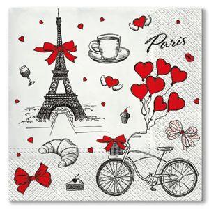 Ubrousky na dekupáž I love France - 1 ks (Ubrousky na dekupáž)