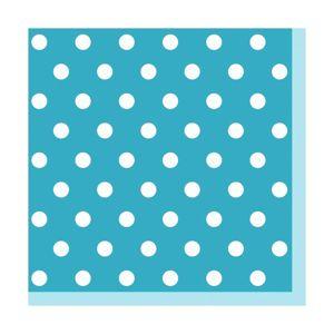 Ubrousky na dekupáž - Modrá s puntíky - 1 ks (ubrousky na dekupáž )
