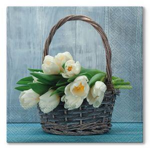 Ubrousky na dekupáž tulipány in the Basket - 1 ks (Ubrousky na dekupáž)