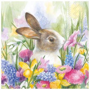 Ubrousky na dekupáž Velikonoční zajíček - 1ks (Ubrousky na dekupáž)