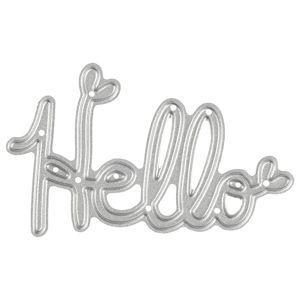 Vyřezávací šablona Hello (kovové vykrajovátko)